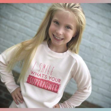 'SUPERPOWER' CANDY PINK SWEATER