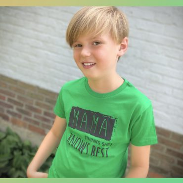 'MAMA' FRESH GREEN T-SHIRT
